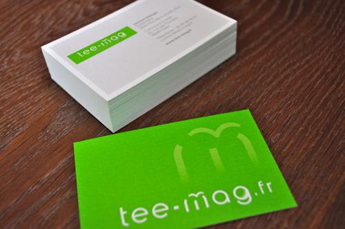 Impression Carte De Visite Tee Mag